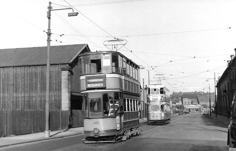 Trams in Albert Drive Pollokshields