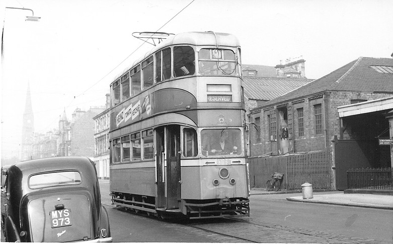 'Cunarder' 1369  on test track at Forth Street, 29 August 1960
