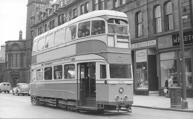 Coronation' car 1160 on test track at Kenmure Street junction.