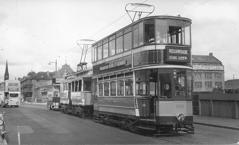 Preparations for the historical parade of trams at the closure of the Corporation Tramways system in September 1962.